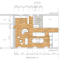 Plan projet: Salon de style de style Industriel par Faiseur de Lieux