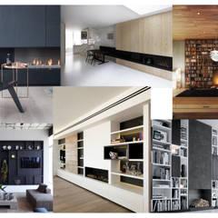 planche tendance de la cheminée: Salon de style de style Industriel par Faiseur de Lieux