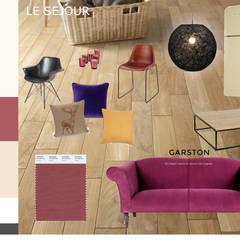 plan tendance du séjour: Salon de style de style Industriel par Faiseur de Lieux