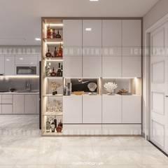 Căn hộ Vinhomes Golden River sang trong và trang nhã với thiết kế nội thất hiện đại :  Cửa ra vào by ICON INTERIOR