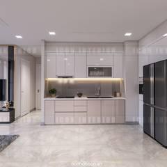 Căn hộ Vinhomes Golden River sang trong và trang nhã với thiết kế nội thất hiện đại :  Nhà bếp by ICON INTERIOR