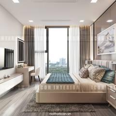 Căn hộ Vinhomes Golden River sang trong và trang nhã với thiết kế nội thất hiện đại :  Phòng ngủ by ICON INTERIOR