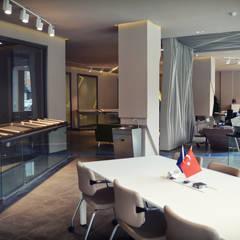 HePe Design interiors – Bilge İnox Toplantı Alanı:  tarz Ofisler ve Mağazalar