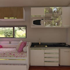 Built-in kitchens by Locares Casa Container e Projetos Customizados