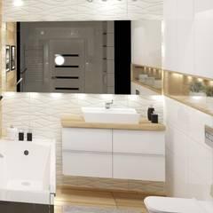 modern Bathroom by 3D Interior Studio Projektowania Wnętrz