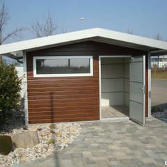 GO-ISO - hochwertiges Gartenhaus isoliert 4,00 x 2,50 m:  Gartenhaus von Trapezblech Gonschior oHG