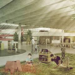 Espacios Interiores: Escaleras de estilo  por Lúdico Arquitectos