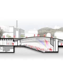 Corte: Escaleras de estilo  por Lúdico Arquitectos