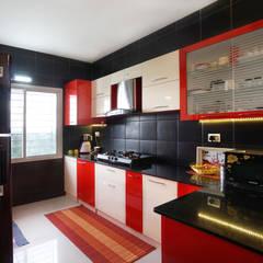 Ajay & Yogita's apartment in Sobha dream Acres,Varthur,Bangalore: minimalistic Kitchen by Asense
