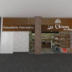 Fachada: Lojas e imóveis comerciais  por Daniela Rodrigues Arquitetura e Interiores