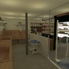 อาคารสำนักงาน ร้านค้า by Daniela Rodrigues Arquitetura e Interiores