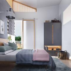 House 516 Scandinavian style bedroom by Studio Gritt Scandinavian