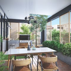 House 516 Scandinavian style balcony, veranda & terrace by Studio Gritt Scandinavian