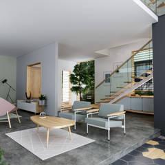 House 516 Scandinavian style living room by Studio Gritt Scandinavian