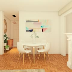 Mid century moderno - Living y Comedor: Comedores de estilo  por MM Design,