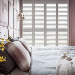 Shutters by 鼎士達室內裝修企劃, Country Solid Wood Multicolored