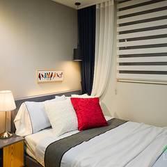부산 분양 모델하우스 세팅, 클래식 스타일 - 노마드디자인: 노마드디자인 / Nomad design의  침실