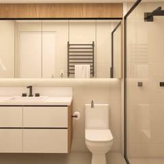 INTERIORES D | M: Banheiros minimalistas por Drömma Arquitetura