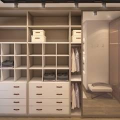INTERIORES R | F: Closets modernos por Drömma Arquitetura