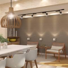 INTERIORES M | S: Salas de jantar modernas por Drömma Arquitetura