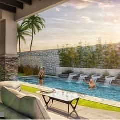 مسبح حديقة تنفيذ DAMAJO Grupo Inmobiliario,