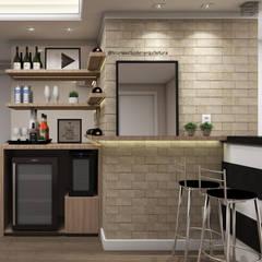Bar e adega: Adegas modernas por Bruna Schuster Arquitetura & Interiores