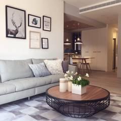Wohnzimmer von Fertility Design 豐聚空間設計, Modern