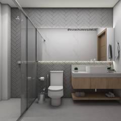 Banho social: Banheiros minimalistas por Bruna Schuster Arquitetura & Interiores