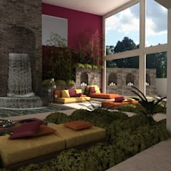 Casa Faisan: Jardines de estilo  por Tekne