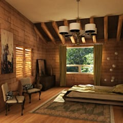 Casa Faisan: Recámaras de estilo mediterraneo por Tekne