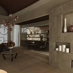 Casa Faisan: Pasillos y recibidores de estilo  por Tekne, Mediterráneo