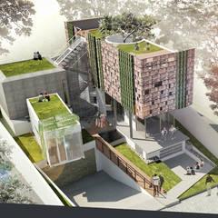 Casas unifamilares de estilo  de sigit.kusumawijaya | architect & urbandesigner, Tropical