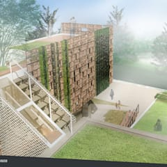 Rumah Riung (Communal Sharing & Gardening House):  Taman by sigit.kusumawijaya | architect & urbandesigner