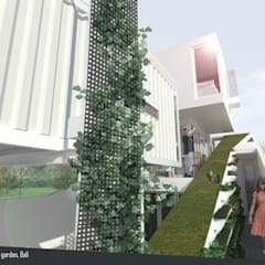 Split & Slope (Edible) Garden House: Koridor dan lorong oleh sigit.kusumawijaya | architect & urbandesigner,
