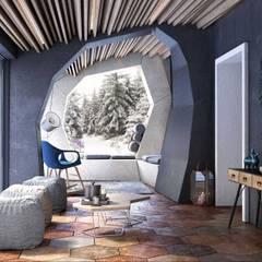 Skandynawski ogród zimowy od Alfredo Pulcrano Skandynawski