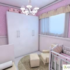 Dormitorios de bebé de estilo  por Karla Araujo | Arquitetura + Interiores