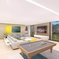 casa la riverita : Salas de estilo  por astratto