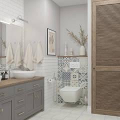 """Трехкомнатная квартира ЖК """"А101"""" Ванная комната в скандинавском стиле от OM DESIGN Скандинавский"""