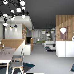 Boutique de luminaires à Hoenheim: Espaces commerciaux de style  par Studio Fan Déco