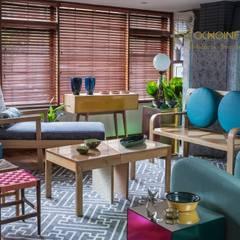 SALAS - OCHOINFINITO Salas de estilo ecléctico de OCHOINFINITO Mobiliario - Interiorismo Ecléctico Madera maciza Multicolor