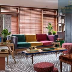 SALAS - OCHOINFINITO Salas de estilo ecléctico de OCHOINFINITO Mobiliario - Interiorismo Ecléctico Derivados de madera Transparente
