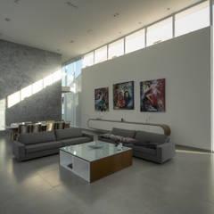 Casa Americana: Salas de estar escandinavas por Olaa Arquitetos