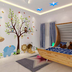 modern Nursery/kid's room by Rhythm  And Emphasis Design Studio