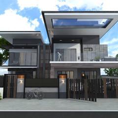 Bungalow Design -Horizon Hill Johor Bahru,Malaysia:  Houses by Enrich Artlife & Interior Design Sdn Bhd