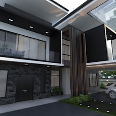 Bungalow Design -Horizon Hill Johor Bahru,Malaysia:  Houses by Enrich Artlife & Interior Design Sdn Bhd