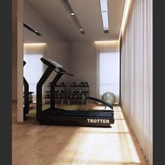 Bungalow Design -Horizon Hill Johor Bahru,Malaysia:  Gym by Enrich Artlife & Interior Design Sdn Bhd