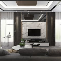 Living Area:  Living room by Enrich Artlife & Interior Design Sdn Bhd