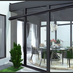 Semi-Detached Houses Design - Horizon Hill Johor,Malaysia:  Dining room by Enrich Artlife & Interior Design Sdn Bhd, Modern