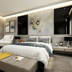 Semi-Detached Houses Design - Senibong Villa Johor,Malaysia:  Nursery/kid's room by Enrich Artlife & Interior Design Sdn Bhd