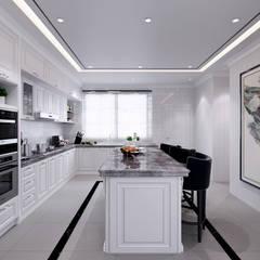 Semi-Detached Houses Design - Senibong Villa Johor,Malaysia:  Kitchen by Enrich Artlife & Interior Design Sdn Bhd,